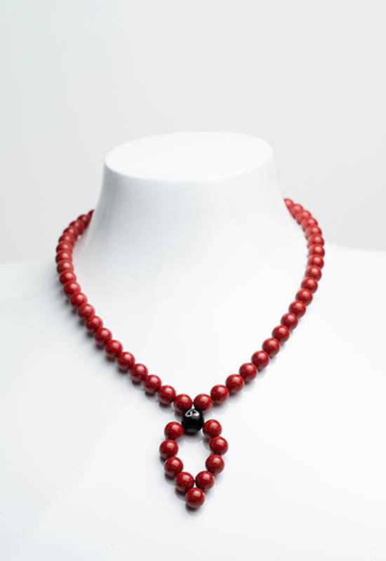慈能灸石稀土养生链·珊瑚红