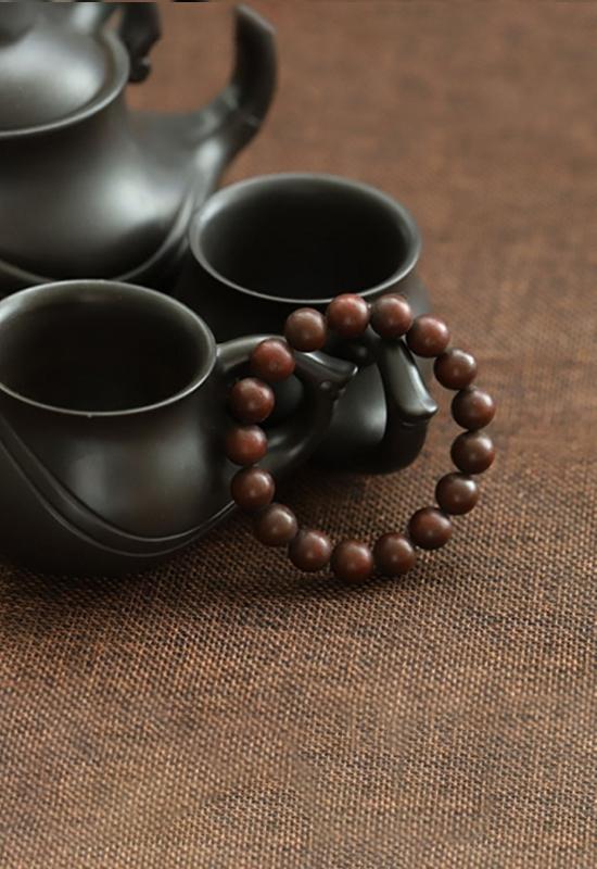 慈能灸石养生手链-紫檀