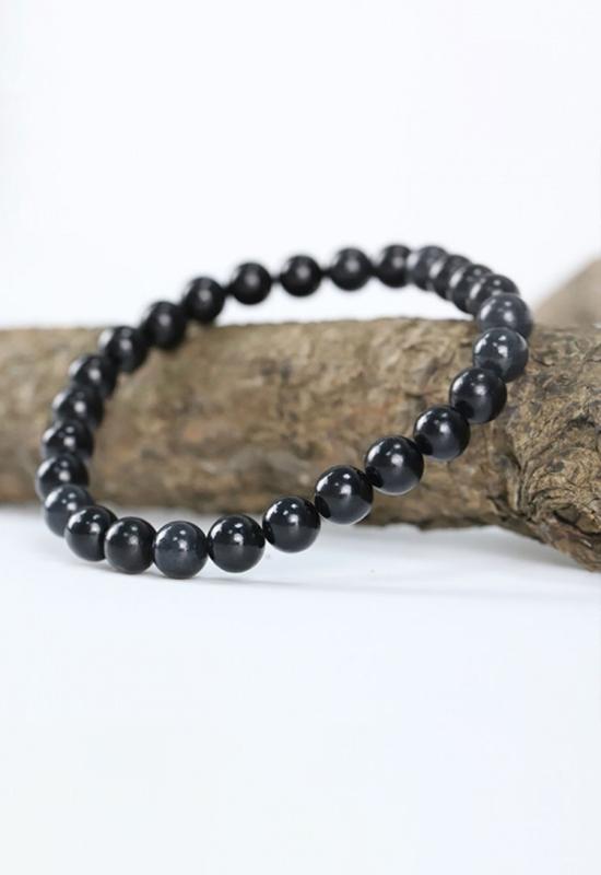 慈能灸石养生手链-珍珠黑